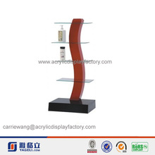 artistical black & red retail acrylic cosmetic display stand