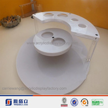 shape unique pure white acrylic counter cosmetic display stand