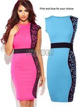 2014 New Fashion Women Summer dress Slim Tunic print Floral dresses Party Plus Size sexy bodycon dress SV001987
