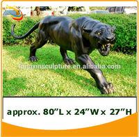 Bronze Panther Sculpture Statue Outdoor Playground Animal Sculpture Bronze Animal Garden Sculptures