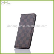 china supplier grid case for LG G3,magnetic wallet flip leather phone case