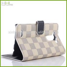Wholesale grid case for LG G3,magnetic wallet flip leather phone case