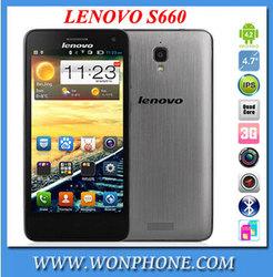 "Original Lenovo S660 MTK6582 Quad Core 3G Smartphone 4.7"" IPS QHD Screen 8GB Rom Android 4.2 WCDMA Dual Sim GPS 8.0MP Camera"