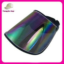 hot selling wholesale custom plastic peak cap visor
