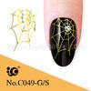 water transfer metal decals spider nail tattoo sticker