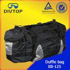 plastic carry bag design duffle bag with heavy duty zipper