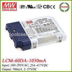 Meanwell led dali dimming driver 1050ma LCM-60DA-1050mA