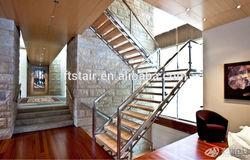 indoor stainless steel wood stair/stairway