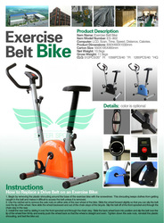 Sports Equipment Belt Driven Portable Mini Exercise Bike with Cheap Price ES-8002