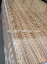 High gloss Wood Grain UV MDF Panel/UV Coated Board /Wood Grain Melamine Parper Laminated