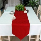 Machine made 100% polyester table runner