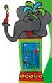 Bela elephant crianças modernas berçário brinquedo educação