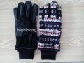 Quatre tailles hiver, cyclisme, microfibre acrylique gants stretch magic pour les femmes