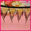 Venta al por mayor de moda personalizada de cuentas franja recorte de braid wtp-1244