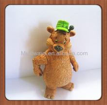 movable resin figure resin model kit figures cute bear resin action figure