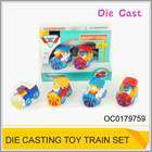 Friction metal toy train set Diecast train toy (4 colors ) OC0179759