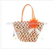 Hot sale basket qingdao straw bag corn husk bag hawaii beach bag
