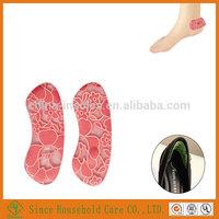 Lace Fabric Gel Sheepskin Shoe Liner