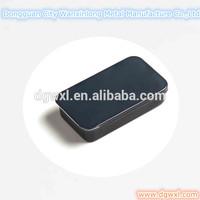 Black sliding mint tin can