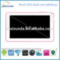 Android 4.2 9 pulgadas tablet pc smart esterasdecoches a23 de doble núcleo del ordenador portátil