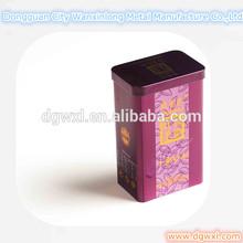 Tall rectangle tin box, black tea tin, tall tea tin