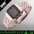 De las ss. Com de oro rosa de negocios de acero inoxidable reloj