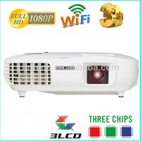 Brilens 3D 1080P 3000 lumens 3LCD 3LED video proiettore/digital galaxy projector 5000 lumens