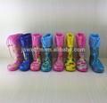 Jelly pvc carregador de chuva de sapatos para crianças, crianças tornozelo boot impermeável chuva sapatos