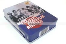 Rectangular CD DVD Metal Case Tin Box with Hinged