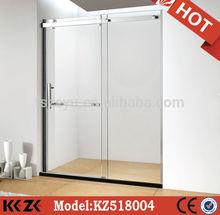 frameless sliding door glass screen shower room
