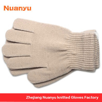 100% Acrylic Plain Knitted Skin Color Gloves