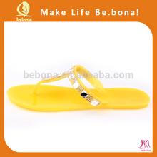 China wholesale OEM peep toe flat jelly shoes