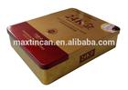 Cheap/Custom printed rectangular coffee tin box/Rectangular tea tin box for food