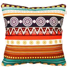 promotion100% cotton printed various bright color stripe pillow