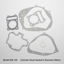 GN125 motorcycle spare parts of motorcycle full gasket