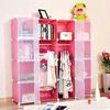 Modern portable diy bedroom set wardrobe closet China manufacturer(FH-AL0052-16)