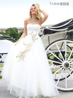 Princess Strapless Appliqued Floor Length Sleeveless Ball Gown Evening Dresses For Fat Women