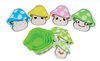 New Product Lovely Mushroom shape 4pcs Mini preservation food box food container
