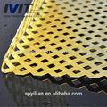 amarillo de aluminio epoxi hoja de metal perforado para la decoración