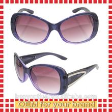 2014 New hot sell purple Women Sunglasses large temple