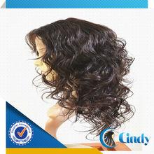 super water wave full thin skin cap human hair lace wigs