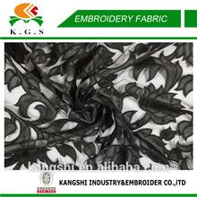 Tule bordado kaftan tecido flores de tecido para o vestido