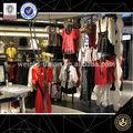Atacado private label de vestuário fabricantes/de loja de varejo de móveis/roupas prateleira