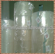 Clear transfer film application tape high tack