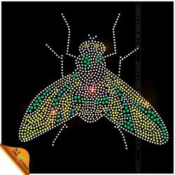 Lifelike pattern mosquito iron on rhinestone animal