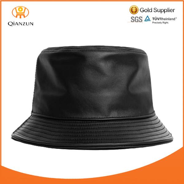 Bucket Hat Leather Leather Blank Bucket Hat