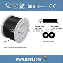 PMMA plastic fiber optical cable for communication