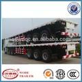 baja precio de superficie plana 60t contenedor de camión remolque