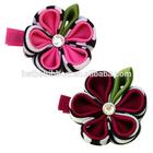 Ribbon flowers making hair clip springs design CHC-1026