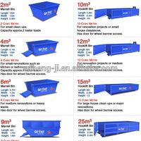 skip bin/waste bins/metal binss/large bins/hook bins/merrell bin for sale